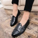 shoes casual leather luxury brand fashion moccasins men loafers