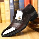Shoes Plus Size Men Formal Flat Shoes Black Brown Breathable Slip on
