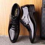 Microfiber Leather Formal Business Pointed Toe Man Dress Shoes