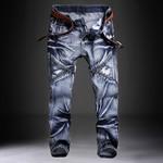Jeans Men Classic Fashions Pants Denim Biker Pant Slim Fit