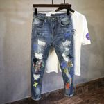 Style Fashion Men Jeans Embroidery Patch Designer