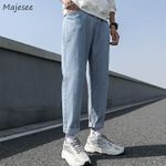 Men Jeans Male Trousers Simple All-match Daily Casual