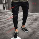 Mens Cool Designer Jeans Skinny Ripped Destroyed Stretch Slim Fit