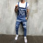 Fashion Men's Ripped Jeans Jumpsuits Ankle Length