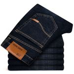 Men's Jeans Business Casual Stretch Mid Slim Classic Trousers