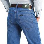 Loose Jeans Men Business Cotton Fabric Classic Straight Denim