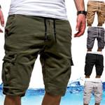 Men's Shorts Cargo Shorts Bermudas Flap Pockets Jogger