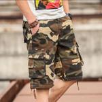 Men's Camouflage Camo Cargo Shorts Casual Cotton Baggy