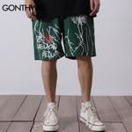 Graffiti Print Shorts Harajuku Hip Hop Casual Baggy Pockets Trousers