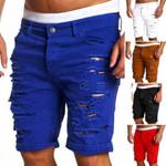 Men's Fashion Skinny Runway Straight Short Denim