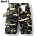 Camouflage Cargo Shorts Men Army Green Jogger