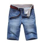 Men's Denim Shorts Jeans Men Cotton Solid Straight Short