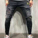 Style Hip Hop Tight Men's Jeans Slim Hole Denim Pencil Pants