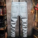 Fashion Mens Baggy Big Ripped Hole Jeans Street Style