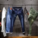 Men's Skinny White Jeans Fashion Elastic Slim Pants