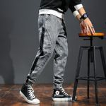 Men's Fashion Pants Elastic Band Overweight Large Size Jeans