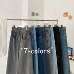 Men's Casual Oversize Jeans Solid Color Straight Denim