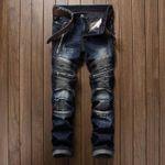 Casual Men Jeans  Slim Fit Hip Hop Denim Jeans