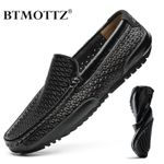 Men Shoes Casual Luxury Brand Genuine Leather Mens Loafers