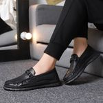 Breathable Slip on Boat Casual Luxury Brand Genuine Leather Mens Shoes