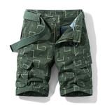 Mens Casual Shorts Summer Bermudas Male Print Short
