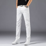 Men's Clothing White Slim Jeans Classic Style
