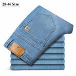 Men's Business Jeans Plus Size Stretch Denim Straight-leg Pants