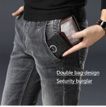 Men's Clothing Anti-theft Zipper Jeans Fashion Casual Straight