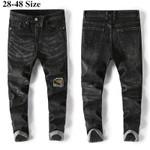 Men's Slim Jeans Fashion Patch Denim Harem Pants