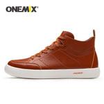 Men Skateboarding Shoes Lightweight flat Sneakers Soft Leather Casual Flat