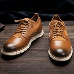 Men leather shoes sneakers Casual shoes comfortable fashion