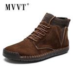 Plus Size Men Winter boots Suede Leather Boots Men