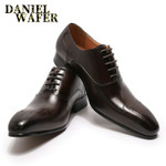 LUXURY MEN SHOES GENUINE LEATHER LACE UP OFFICE BUSINESS