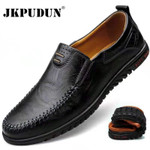Genuine Leather Men Shoes Casual Slip on Formal Loafers