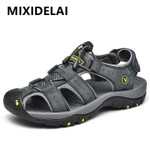 Genuine Leather Men Shoes New Large Size Men's Sandals