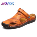 Classic Summer Men's Sandals Genuine Leather Soft Breathable