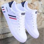 Men Flat Shoes Summer Breathable Solid Lace Up Male Business