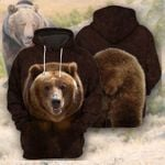 Bear all printed 3d t shirt hoodie sweater