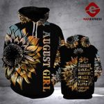 August girl are sunshine mixed with a little hiurricane 3d t shirt hoodie sweater