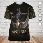 Anubis egyptian god ancient egypt pattern 3d t shirt hoodie sweater