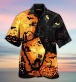 Blact cat halloween vibe spooky pumpkin  3d t shirt hoodie sweater