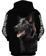 Black german shepherd for lover 3d t shirt hoodie sweater