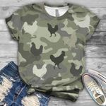 Chicken pattern camouflage color design 3d t shirt hoodie sweater