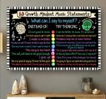 10 growth mindset music statements poster canvas