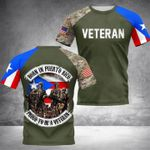 Born in puerto rico proud to be a veteran camouflage design 3d t shirt hoodie sweater