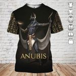 Anubis egyptian god ancient egypt pattern 3d printed t shirt