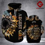 August girl are sunshine mixed with a little hiurricane hoodie