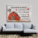 Grandfather a grandpa is a little bit teachers a little bit best friend with home red cardinals poster