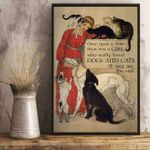 A Girl Who Really Loved Dogs & Cats It Was Me poster canvas