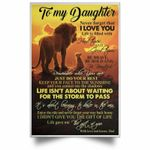 Lion Dad To My Daughter Never Forget That I Love You poster canvas